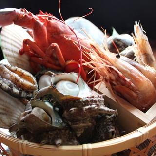 毎日新鮮な魚介類をご用意!