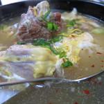 焼肉 門 - しっぽ汁のアップ