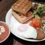 18034413 - 夜カフェディナー:お食事ワッフル