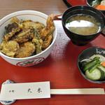 中野天米 - ランチのミニ天丼