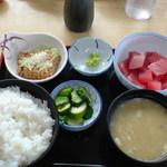 堀添食堂 - ぶつぎりトロ定食