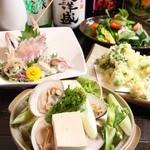 雑多居酒屋 しののめ - あさり鍋やお刺身、季節の天ぷらなど