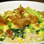 旬鮮吟味 唐八 - 国産キクラゲと青菜の中華炒め