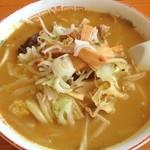花のや - 野菜カレーラーメンo(^▽^)o  ¥900也  味は、最高‼  麺は、柔らかいかな⤵ 硬めがいいなぁ。