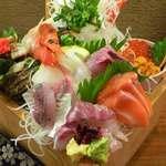 寿司ろばた 八條 - 刺身十種枡盛り