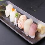 本日のにぎり寿司6貫