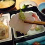 石和川 - ☆鮃ちゃんも山葵でパクリ(^u^)☆