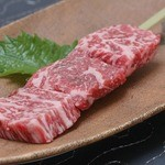 あてや - ステーキにする部位を串焼きにした柔らかくて美味しいイ飛騨牛ステーキ串です!