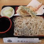 酒膳 東京庵 - 料理写真:天もり(天ぷらと更科そば)