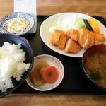 18053930 - 日替り定食、チキンカツ定食(¥480)(^o^)v