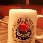 福福福屋 - ビールのジョッキも素敵ですn♪