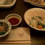 Japanese restaurant chihiro - 鉄皮、てっさ