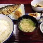 一二三食堂 - 焼魚定食 サバ