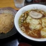 東竜 - ワンタンメン・半炒飯セット930円