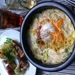 ファミーユ - 神戸初の石焼生パスタ食べれるのはファミーユだけ!!