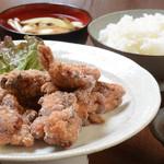 力士料理 富風 - 当店自慢の唐揚げ定食