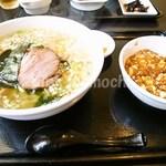 麺飯家龍門 - 日替わりランチ「塩ラーメン・ミニマーボー丼」