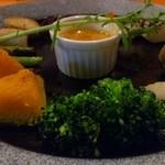 産食 お肉&菜園料理 カムラッド - 炙り野菜のバーニャカウダ