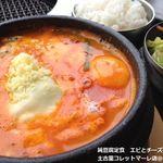 18069822 - 平日限定の日替わり純豆腐定食「エビとチーズの純豆腐」