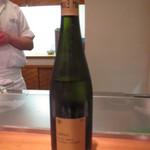 天麩羅 ひらいし - グラスワインの白いただきました