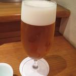 天麩羅 ひらいし - 生ビール(プレミアムモルツ)