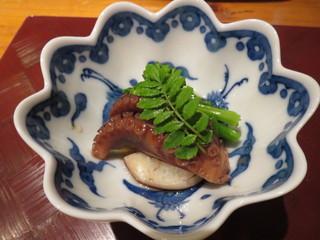 天麩羅 ひらいし - 飯蛸と菜の花