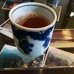 おでかけ日和 - お茶が出てきました