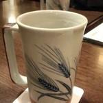 東新町 鳥銀 - 生は陶器のグラスできめ細やかな泡☆*