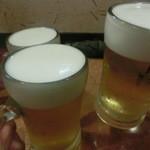 庚申 - 生ビールで乾杯♪