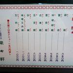 18077373 - 麺メニュー