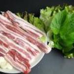 韓国家庭料理 済州 - ◇サムギョプサルセット(豚バラ肉)◇当店に来店のお客様、注文率100%!