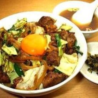 【レバ野菜丼】おすすめです!