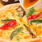 いろいろ野菜のピッツァ