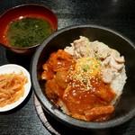 番長 - 石焼とりW丼(2013/03/29撮影)
