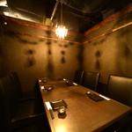 さんきゅう - シャンデリアの付いた個室