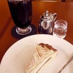 クラウドコーヒー - 料理写真:モンブランケーキセット