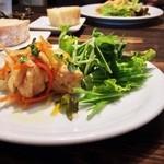18082747 - ランチの前菜                       鶏と野菜。