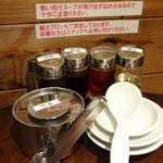 肉汁水餃子 餃包 - テーブルのセット