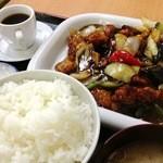 18084263 - 酢豚定食