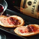 グリルハンター - イチヂクとフォアグラのカナッペ 、フォアグラの濃厚な味わいと甘酸っぱいイチジクのハーモニー