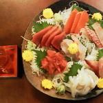 ○気 - 富山の大吟醸と刺身盛