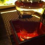 18091022 - 和食には日本酒〜。今日は竹泉
