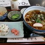末ひろ - 山菜うどん定食
