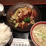 日本橋焼餃子 - 日替わり定食回鍋肉