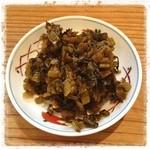 ラーメン 龍の家 - 『辛子高菜』…これをおつまみにラーメンが来るのを待とう。