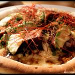アナログ - 照焼きチキンとアボカドのピッツァ