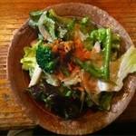 18096791 - 葉野菜と春野菜のサラダ