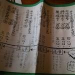18096829 - 巻物になった焼酎のリスト