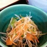 食処おゝき - 付け合せの大根サラダ