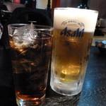 18100411 - ビールと烏龍茶